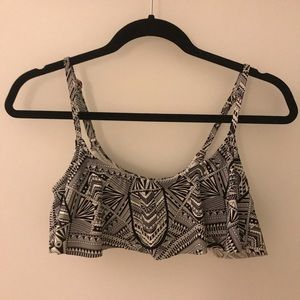 Black and White Tribal Pattern Bathing Suite Top